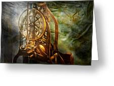 Clockmaker - The Day Time Stood Still  Greeting Card by Mike Savad
