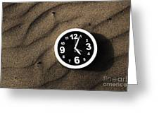 Clocks And Ripples Greeting Card