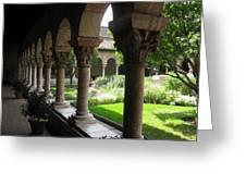 Cloister Garden Greeting Card