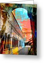 Cloister In Rome Greeting Card