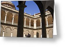 Cloister Real Colegio Seminario Del Corpus Christi Greeting Card