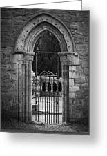 Cloister View Cong Abbey Cong Ireland Greeting Card