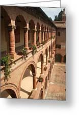 Cloistered Courtyard Greeting Card
