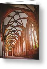 Cloisters Of Basel Munster Switzerland  Greeting Card