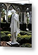 Cloisters Statue Greeting Card by Heidi Hermes