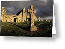 Clonmacnoise Monastery, Co Offaly Greeting Card