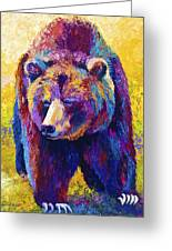 Close Encounter - Grizzly Bear Greeting Card by Marion Rose
