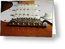 Close Up Electric Guitar Greeting Card