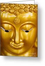 Close-up Of A Golden Buddha Greeting Card