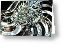 Close-up Of Glass Chambered Nautilus Greeting Card
