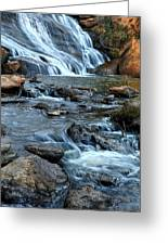 Close Up Of Reedy Falls In South Carolina II Greeting Card