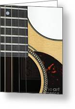 Close-up Of Steel-string Guitar Greeting Card