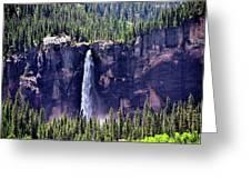 Close-up Telluride Falls Greeting Card