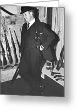 Close Up Viet Nam Vet John Dane With His Weapons Collection American Fork Utah 1975 Greeting Card