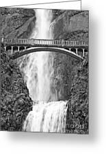 Close Up View Of Multnomah Falls Greeting Card