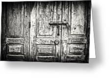 Closed Doors Greeting Card
