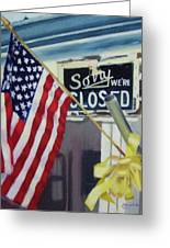 Closed For Business Greeting Card