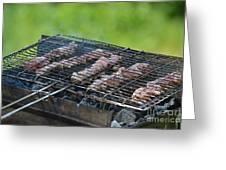 Closeup Kebabs Greeting Card