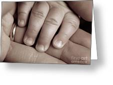 Closeup Of A Baby's Hand Greeting Card by Oleksiy Maksymenko