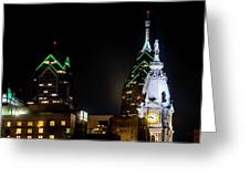 Closeup Of City Hall Philadelphia Greeting Card