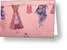 Clothes Line Mural Burlington Vermont Greeting Card