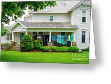 Clothes On The Front Porch Greeting Card