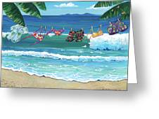 Clothesline At The Beach Greeting Card