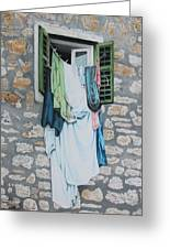 Clotheslines In Dobrovnik Greeting Card