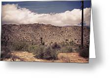 Cloud Blankets Over Joshua Tree Greeting Card