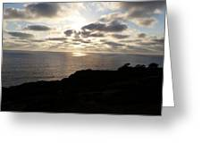 Cloud Break Sunset At  State Natural Reserve In San Diego Greeting Card