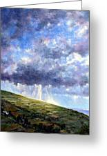 Cloud Burst Ireland Greeting Card