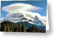 Cloud Capped Mount Hood Greeting Card