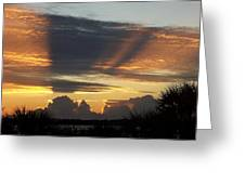 Cloud Cast Glory Greeting Card