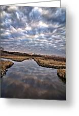 Cloud Covered River 2 Greeting Card