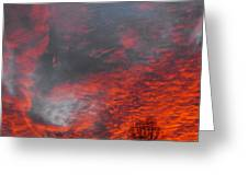 Cloud Fire With Rays Greeting Card
