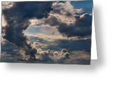 Cloud Formations Boiling Up Greeting Card