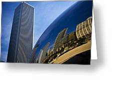 Cloud Gate And Aon Center Greeting Card