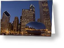 Cloud Gate At Night Greeting Card