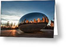 Cloud Gate At Sunrise Greeting Card
