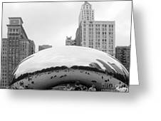 Cloud Gate Chicago Bw 3 Greeting Card