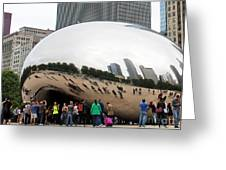 Cloud Gate Chicago Color 4 Greeting Card