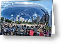 Cloud Gate Reflectioms Greeting Card