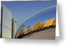 Cloud Gate - Reflection - Chicago Greeting Card