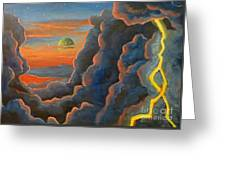 Cloud Gods Greeting Card