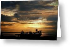 Cloud Landscape. On The Aegean Sea.  Greeting Card