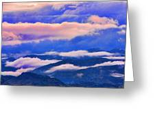 Cloud Layers At Sunset Greeting Card