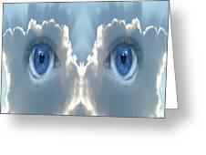Cloud Mask Greeting Card