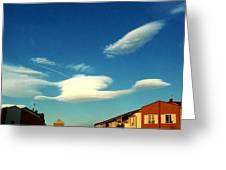 Cloud Greeting Card by Niki Mastromonaco