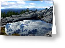 Cloud Pool On Borestone Mountain Greeting Card
