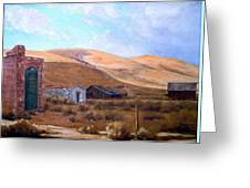 Cloud Shadows Over Bodie California Greeting Card by Evelyne Boynton Grierson